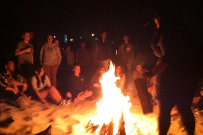 Board retreat bonfire